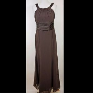 DAVIDS BRIDAL Dark brown sleeveless formal dress